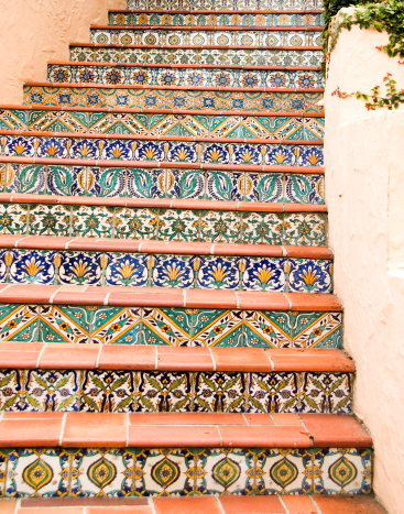 Steps and Staircases「Stairway with Mexican, Talavera Tiles」:スマホ壁紙(6)