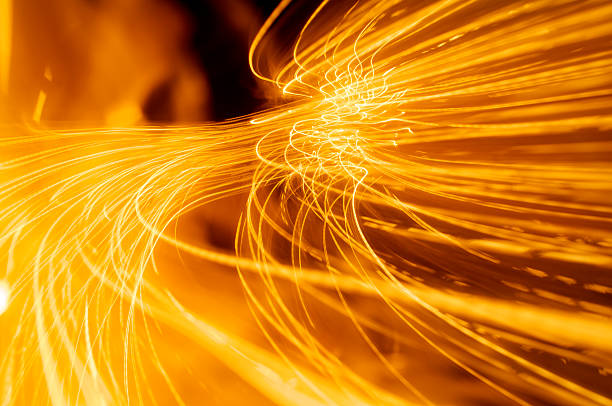 Abstract fire and light trails and effects:スマホ壁紙(壁紙.com)