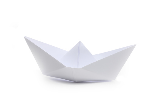 Paper Craft「Origami paper boat, side view」:スマホ壁紙(18)