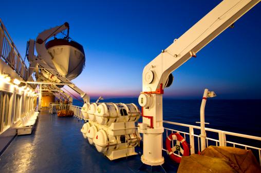 Cruise - Vacation「Ferry deck at dusk」:スマホ壁紙(6)