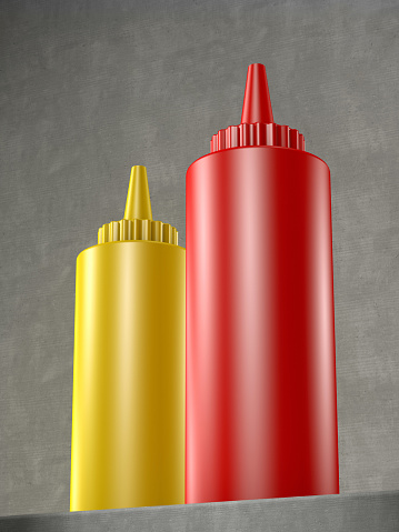 Mustard「ketchup and mustard bottle」:スマホ壁紙(15)