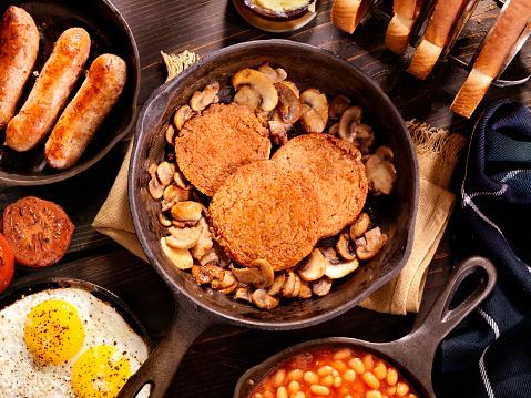 Tartan check「充実した朝食で、伝統的なスコットランド風のハギス」:スマホ壁紙(18)