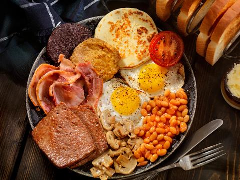タータンチェック「した伝統的なスコットランド風朝食」:スマホ壁紙(4)