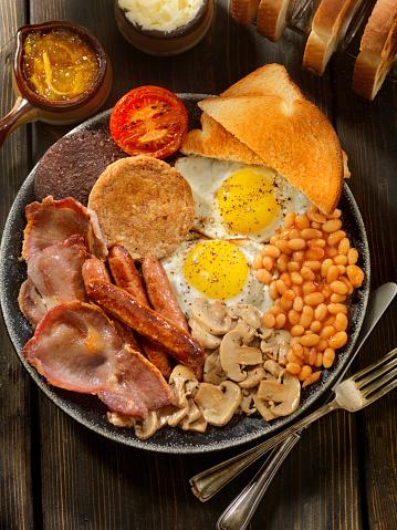 タータンチェック「充実した伝統的な英国式の朝食」:スマホ壁紙(8)