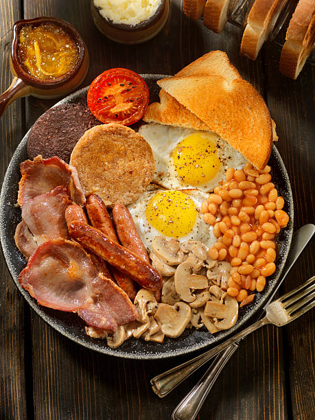 充実した伝統的な英国式の朝食:スマホ壁紙(壁紙.com)