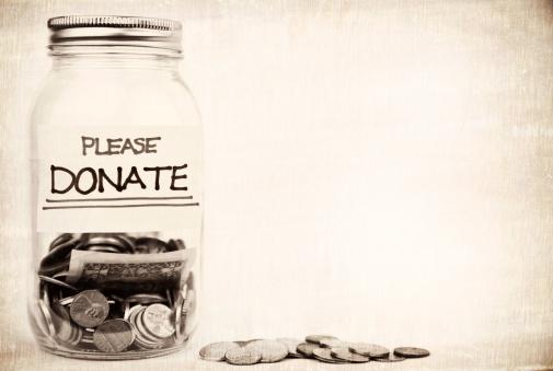 Sepia Toned「Please Donate」:スマホ壁紙(4)