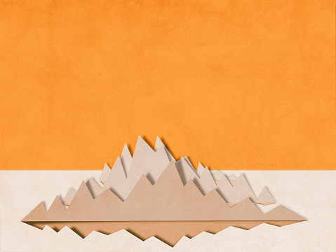 Paper Craft「mountain charts, paper cutting style」:スマホ壁紙(1)