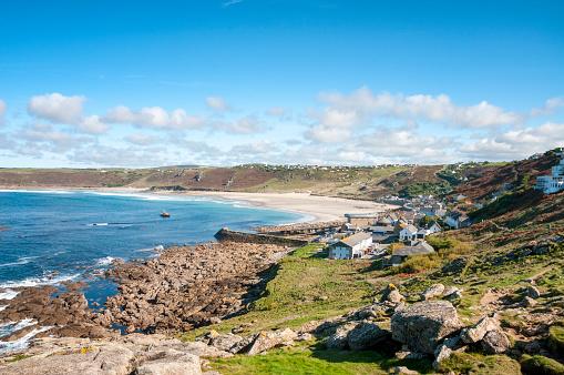 Bay of Water「Sennen Beach In Cornwall, England」:スマホ壁紙(1)