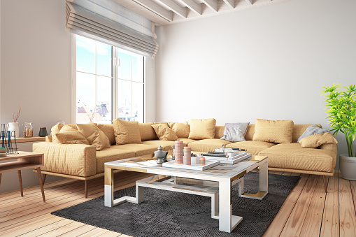 Chesterfield Sofa「Industrial Style Loft Apartment」:スマホ壁紙(15)