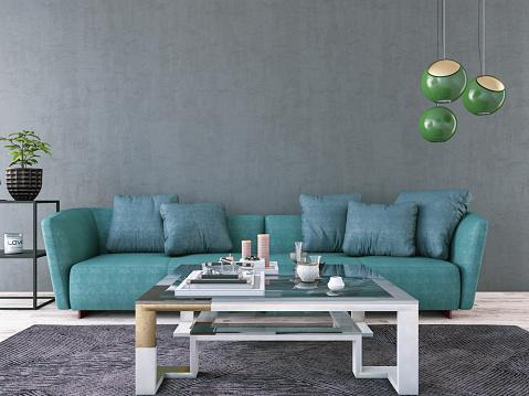 Chesterfield Sofa「Industrial Style Loft Apartment」:スマホ壁紙(14)