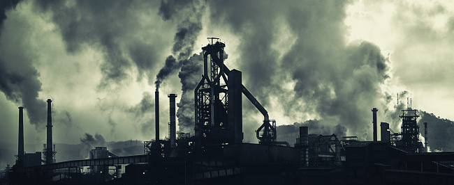 Industry「Industrial Area With Heavy Air Pollution」:スマホ壁紙(7)