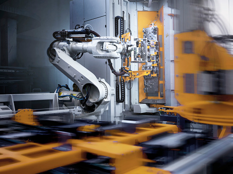 Robotic Arm「Industrial robot in modern factory」:スマホ壁紙(15)