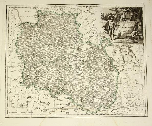 Etching「Map Of Pskov Governorate 1792」:写真・画像(18)[壁紙.com]