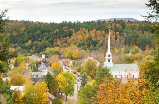 Stowe - Vermont「Stowe, Vermont aerial」:スマホ壁紙(17)