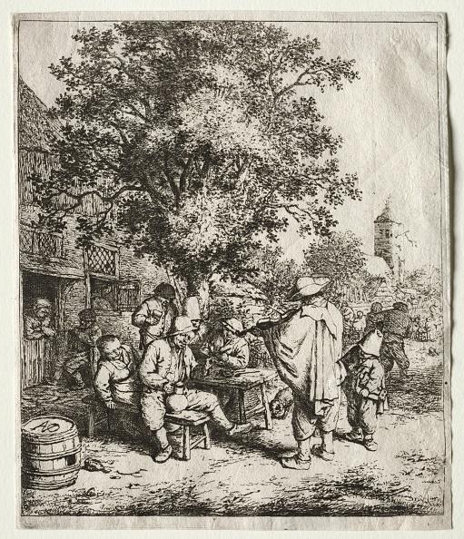 Etching「The Fiddler And The Hurdy-Gurdy Boy. Creator: Adriaen Van Ostade (Dutch」:写真・画像(2)[壁紙.com]