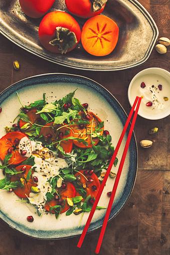 柿「Persimmons ルッコラとザクロのサラダ」:スマホ壁紙(5)