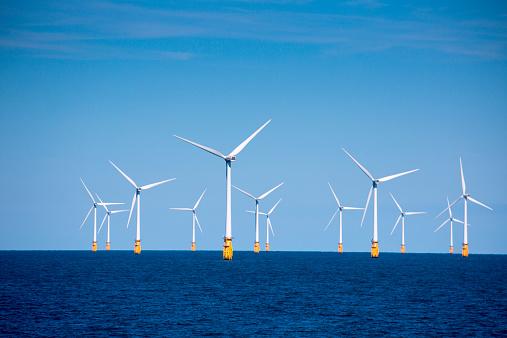 Wind Turbine「London Array offshore wind park in North Sea」:スマホ壁紙(19)