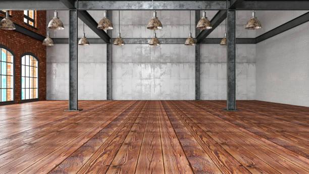 Empty Large Warehouse:スマホ壁紙(壁紙.com)
