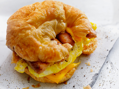 Toasted Sandwich「Egg, Sausage and Cheese Breakfast Croissant」:スマホ壁紙(1)