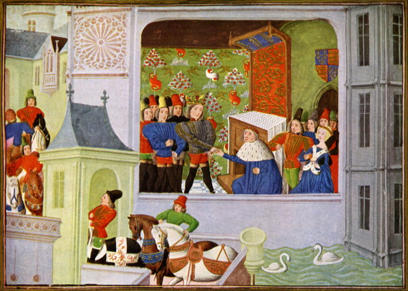 Circa 14th Century「The Interview of Richard II and the Duke of Gloucester in Pleshy Castle」:写真・画像(11)[壁紙.com]