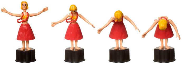 Grass Skirt「Tumbler toy Hula Girl bowing」:スマホ壁紙(15)