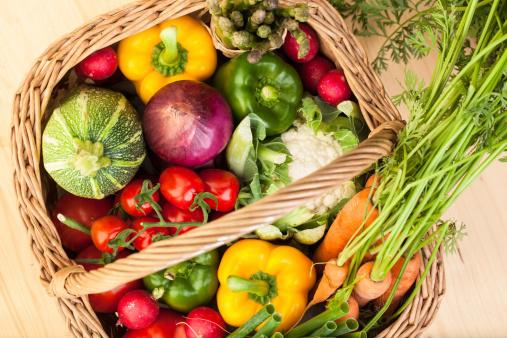 Asparagus「Fresh Vegetables: in a basket」:スマホ壁紙(19)
