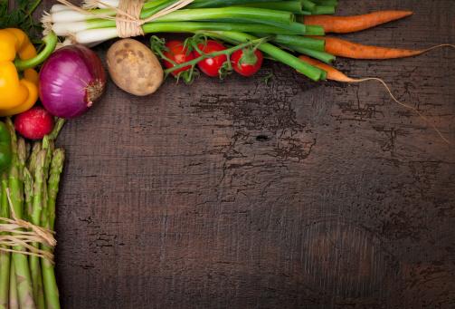 Vegetables「新鮮な野菜: コピースペース付き」:スマホ壁紙(8)