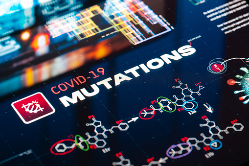 Genetic Mutation「Covid-19 Mutations Background」:スマホ壁紙(13)