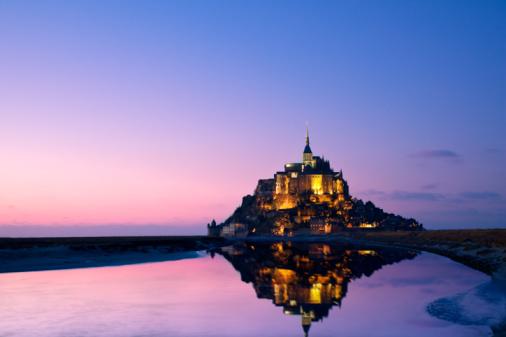 Abbey - Monastery「Mont St.-Michel abbey, France」:スマホ壁紙(11)