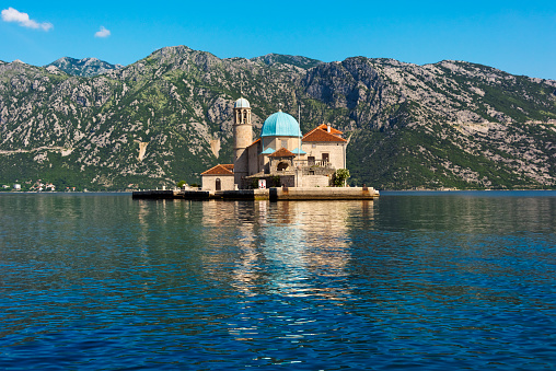 Roman「Our Lady of the Rocks, an artificial island, with the Roman Catholic Church of Our Lady of the Rocks, Perast, Montenegro」:スマホ壁紙(12)