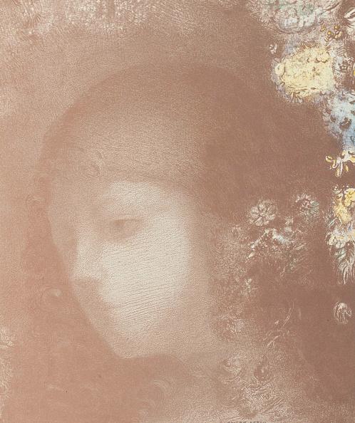 Chromolithograph「Childs Head With Flowers Tête Denfant Avec Fleurs」:写真・画像(10)[壁紙.com]