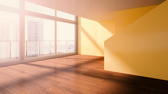Shadow「Penthouse, interior view, 3D rendering」:スマホ壁紙(6)