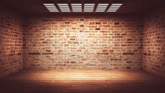 Surrounding Wall「Dark, spooky, empty office or basement room」:スマホ壁紙(7)