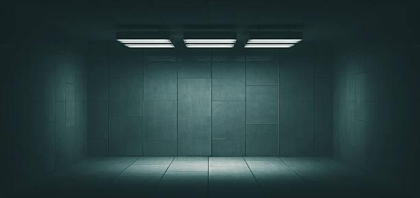 Dark, spooky, empty office room:スマホ壁紙(壁紙.com)