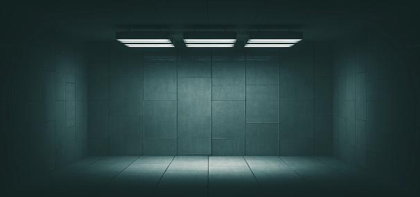 Spooky「Dark, spooky, empty office room」:スマホ壁紙(2)