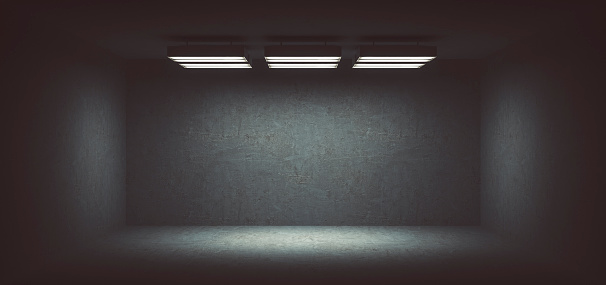 Architectural Feature「Dark, spooky, empty office room」:スマホ壁紙(4)