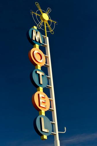 Motel「Route 66 Americana Classic Neon Motel Sign」:スマホ壁紙(9)