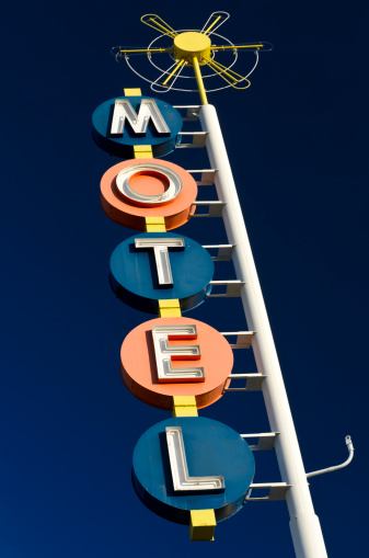Motel「Route 66 Americana Classic Neon Motel Sign」:スマホ壁紙(14)