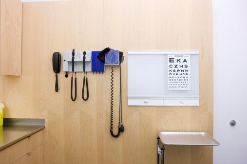 Optical Instrument「empty doctors office showing various medical tools」:スマホ壁紙(14)