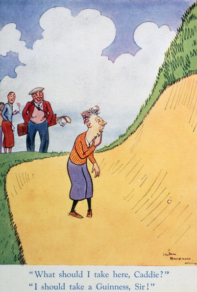 Sand Trap「Golfing cartoon advertising Guinness, c1920s.」:写真・画像(9)[壁紙.com]