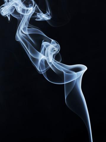 Smoke - Physical Structure「White smoke on black background」:スマホ壁紙(6)