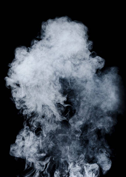 White smoke on black background:スマホ壁紙(壁紙.com)