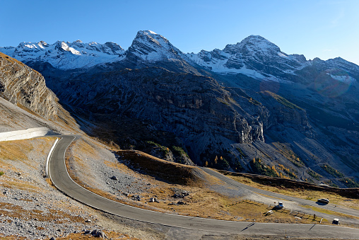 European Alps「Italy, Alto Adige, Stelvio Pass mountain road」:スマホ壁紙(12)