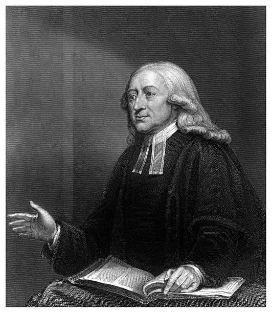 John Wesley, 18th century English non-conformist preacher.Artist: W Holl:ニュース(壁紙.com)