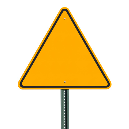 Triangle Shape「Blank Triangular Warning Sign Post Isolated with Clipping Path」:スマホ壁紙(14)