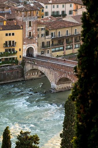 アディジェ川「Famous bridge in Verona」:スマホ壁紙(9)