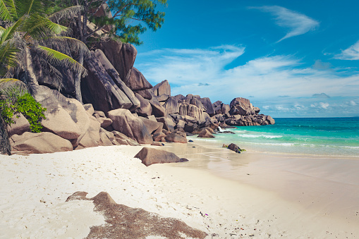 Bay of Water「anse lazio, praslin island, seychelles, mascarene islands, africa」:スマホ壁紙(2)