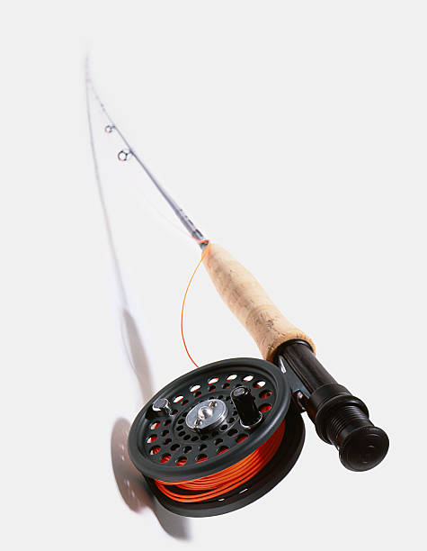 Fishing rod and reel with red line:スマホ壁紙(壁紙.com)