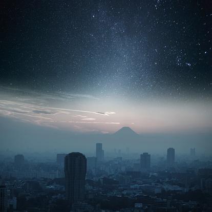 星空「東京の夜の照明」:スマホ壁紙(7)