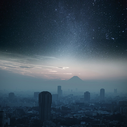 star sky「東京の夜の照明」:スマホ壁紙(6)
